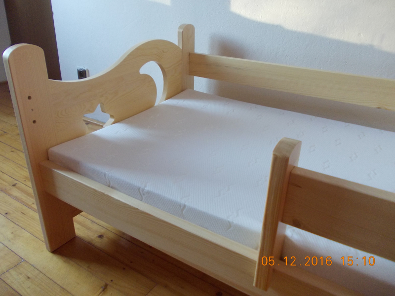 KOMPLET SET postel Simon 3 (80x180) + rošt + matrace